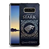 Official HBO Game of Thrones Stark Metallic Sigils Shockproof Matte Black Case for Samsung Galaxy Note8 / Note 8