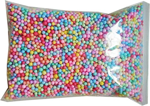 Beads Assorted Medium Glass (Diy Crafts Foam Beads for Fluffy Slime Size 3-5 mm 15000-20000 Pcs (Big Bags 12x8x2.5 Inch) Colorful Rainbow Cheap Styrofoam Polystyrene Floam Kit Wedding Party Decorative Assorted Art Suppliers)