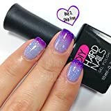 Diy Gel Nails Temperature Color Changing UV Soak Off Gel Nail Polish  Ice Queen Professional Grade  Requires UV or LED Nail Lamp  BONUS Downloadable at Home Gel Nail Guide Included