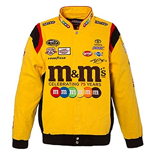Kyle Busch Jackets - JH DESIGN 2016 Authentic Kyle Busch M&M Uniform Cotton Jacket 75 Years Size L