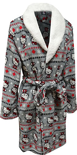 Hello Kitty Winter Dreams Wrap Robe, Gray, Large