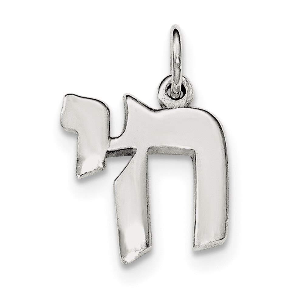 Lex /& Lu Sterling Silver Polished Chai Life Symbol Charm-Prime