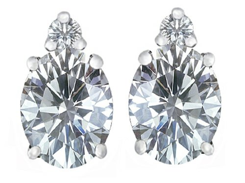 Star K Sterling Silver 8x6mm Oval Earring Studs