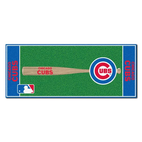 MLB Chicago Cubs Non-Skid Baseball Mat Area Rug - Baseball Rug Runner