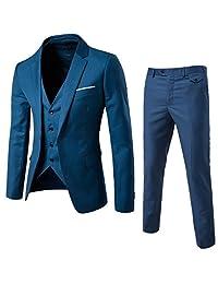 Men's 3 Pieces Suits Slim Fit Wedding Party Suit Bridegroom Formal Suits