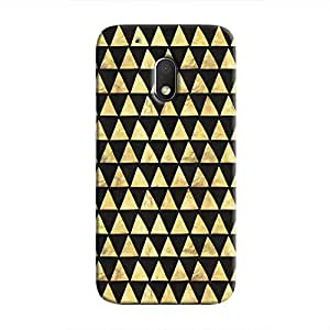 Cover It Up - Gold Black Triangle Tile Moto G4 Play Hard Case