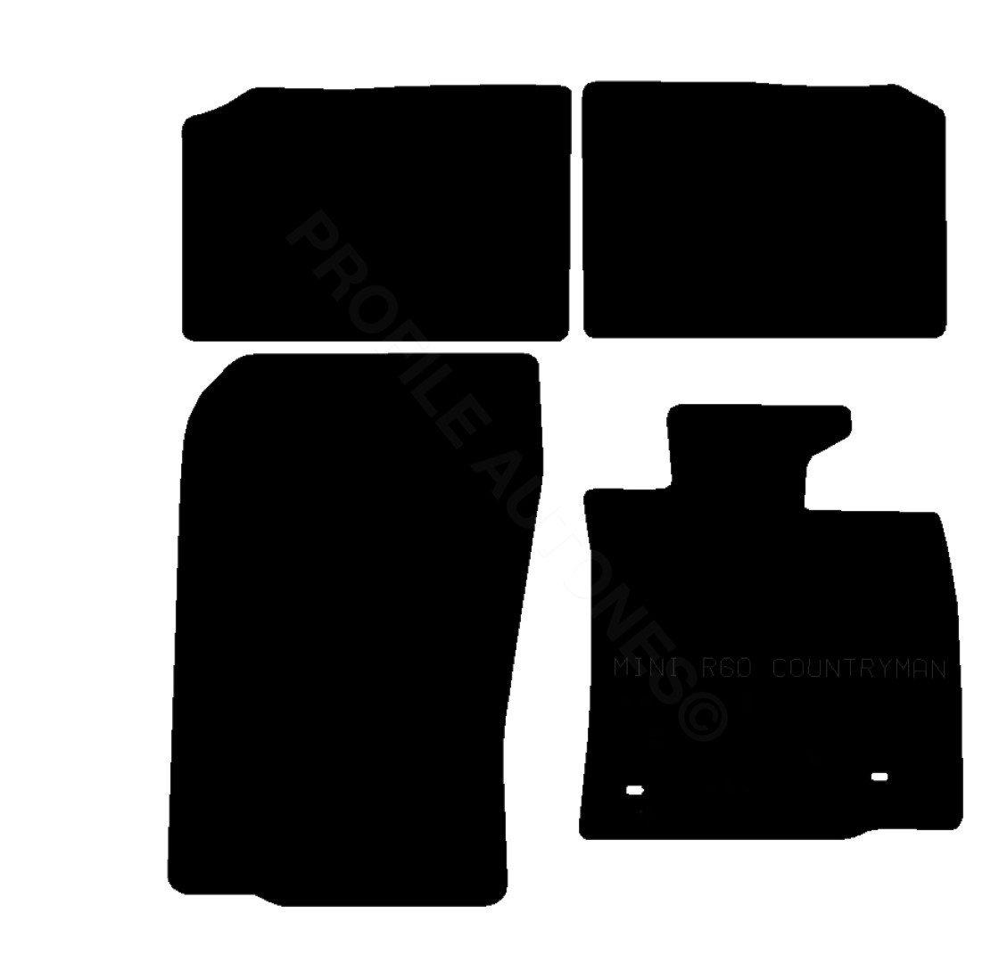 Mini cooper rubber floor mats uk - Mini Countryman Tailored 3mm Rubber Car Mats Black Amazon Co Uk Car Motorbike