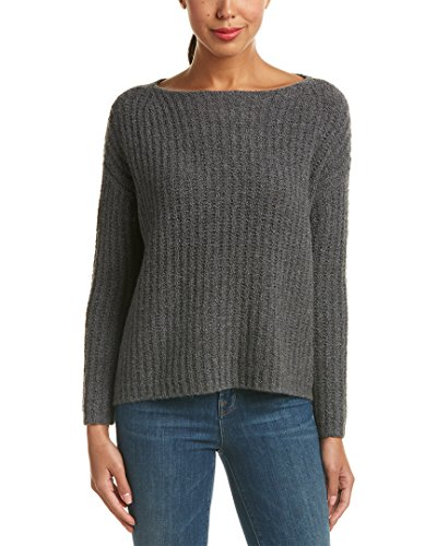 Stitch Funnel, Charcoal, L (Cashmere Funnel Neck Sweater)