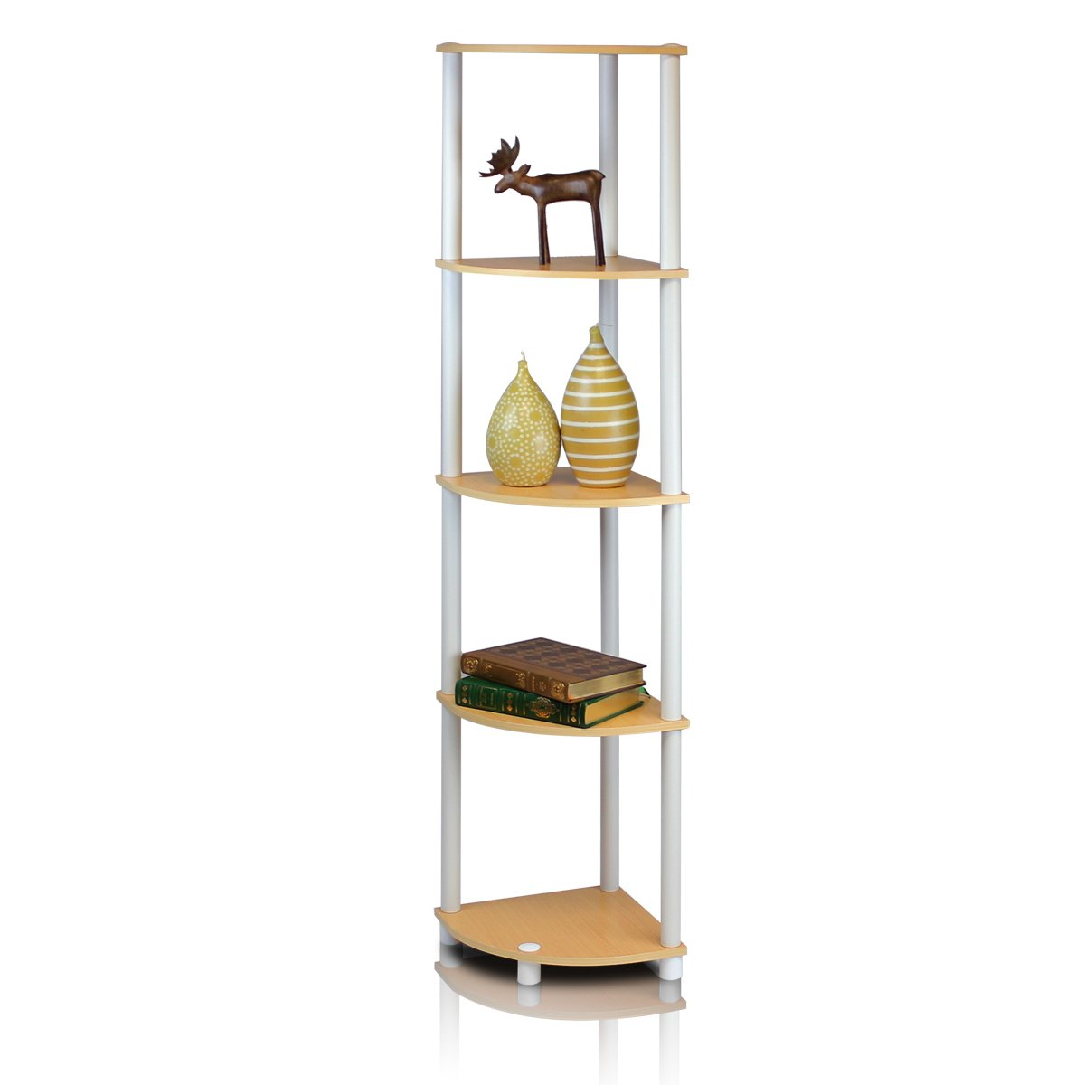 Exhibition Stand Shelves : Tier corner shelf display rack home furniture shelving