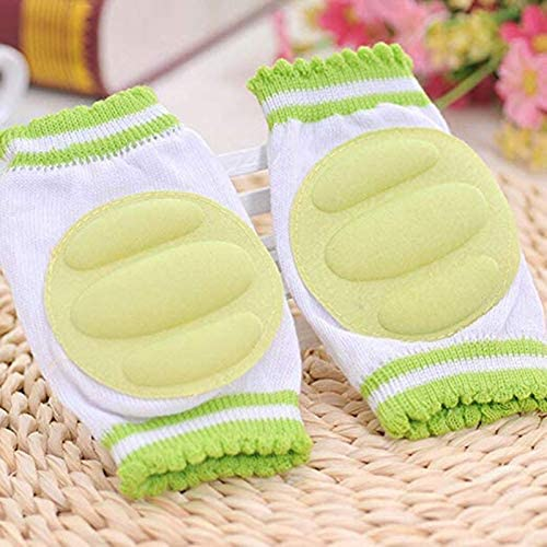 Noblik 4 Pairs Baby Knee Pads for Crawling Cute Breathable Adjustable Elastic Baby Kneepads Knee Elbow Pads Crawling Safety Protector