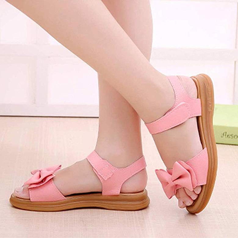 Moonker Children Baby Girls Summer Princess Sandals for 1-12 Years Old Kids Teen Fashion Open Toe Bowknot Casual Shoes