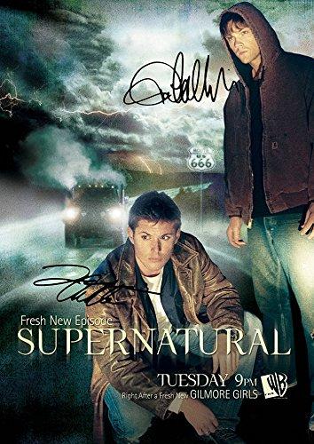 (11.7 X 8.3) Supernatural Tv Print Jensen Ackles Jared Padalecki