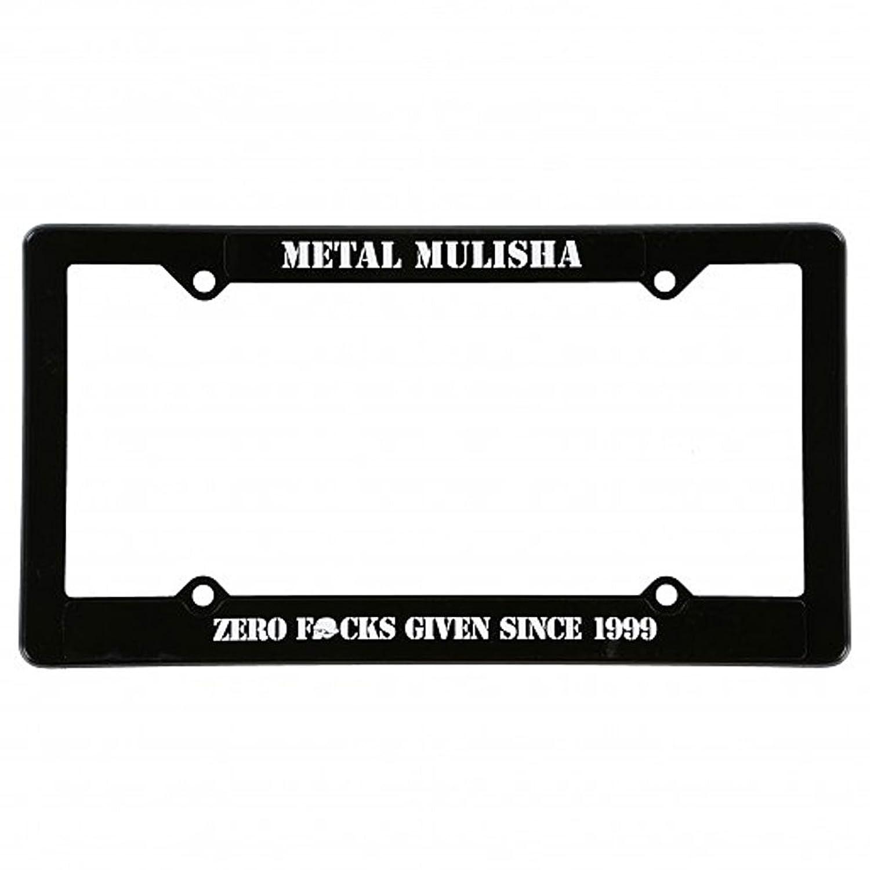 Metal Mulisha Men\'s Zero License Plate Frame Black: Amazon.co.uk ...