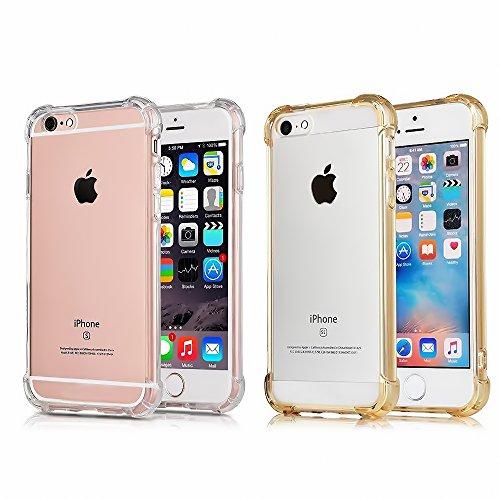 iPhone 6S Plus caso iPhone 6Plus caso, casehq transparente agarre mejorado. Protección Defender Cover Soft carcasa de TPU...