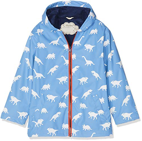 Hatley Boys' Little Splash Jacket, Color Changing Silhouette Dinos 6 Years