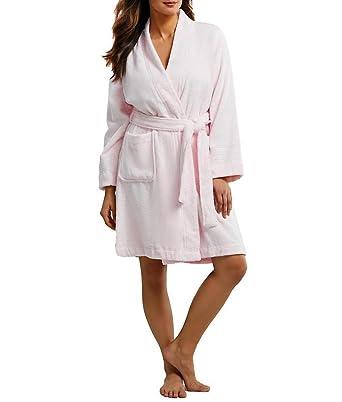 108dbc2d3954 LAUREN RALPH LAUREN Women's Greenwich Woven Terry Robe at Amazon Women's  Clothing store: