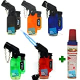 5Pack Angle Eagle Jet Flame Butane Torch Lighter Refillable...