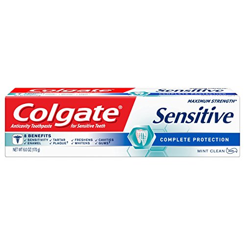Colgate Sensitive Toothpaste, Complete Protection, Mint - 6 ounce ()