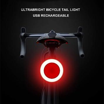 GREADEN TOPMAX Bicicleta luz Bicicleta luz Trasera USB Recargable ...