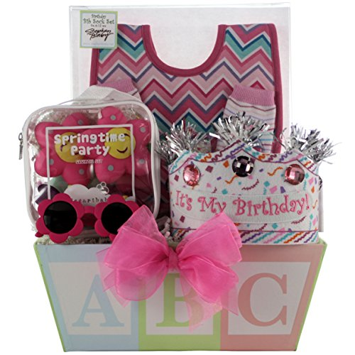 GreatArrivals Gift Baskets Baby's 1st Birthday, Girl