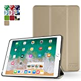 TNP iPad Pro 9.7 Case - Slim Lightweight Shell Smart Cover Stand, Hard Back Protection with Auto Sleep Wake for Apple iPad Pro 9.7' Inch 2016 Release (Gold)