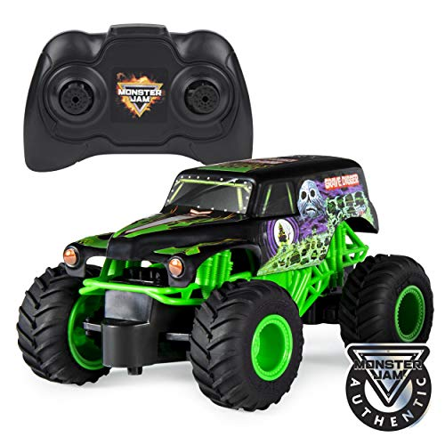 Monster Jam Official Grave Digger Remote Control Monster Truck, 1:24 Scale, 2.4 GHz, for Ages 4 and Up ()
