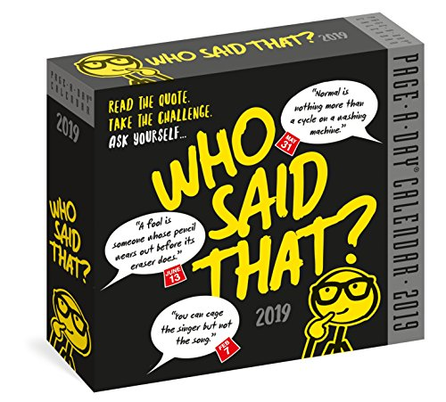 Who Said That? Page-A-Day Calendar 2019 by BJdesign