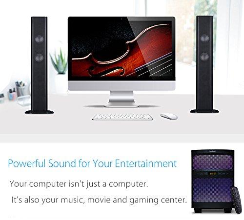LuguLake TV Sound bar Speaker System with Subwoofer, Bluetooth, Adjustable LED Lights, FM Radio, USB Reader, Composable Floor Speaker by LuguLake (Image #9)