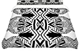 KESS InHouse Pom Graphic Design''Africa'' King Cotton Duvet Cover, 104 x 88''