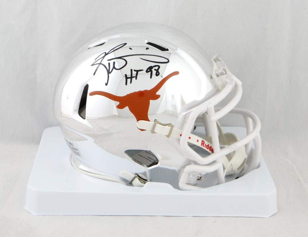 Ricky Williams Autographed Texas Longhorns Chrome Mini Helmet w/HT 98 JSA W Auth Black