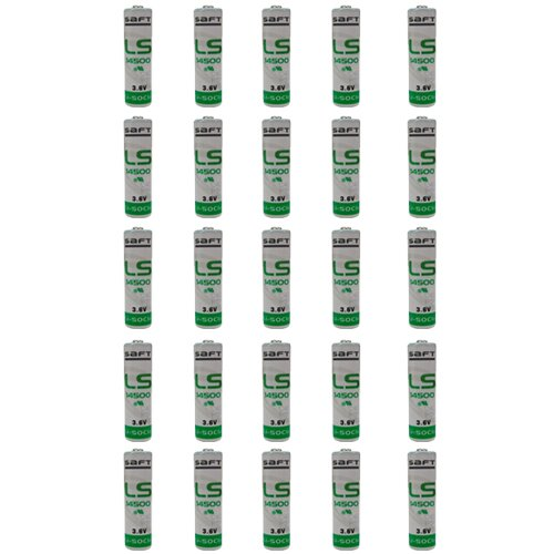 Saft 25-Pack LS-14500 AA 3.6V Lithium Battery - non Rechargeable by Saft