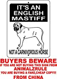 "ENGLISH MASTIFF ALUMINUM GUARD DOG SIGN 3173 9""x12"" ALUMINUM ""ANIMALZRULE ORIGINAL DESIGN - ""NO ONE ELSE IS AUTH0RIZED TO SELL THIS SIGN"" (Any one else selling this sign is selling a CHEAP COPY)"