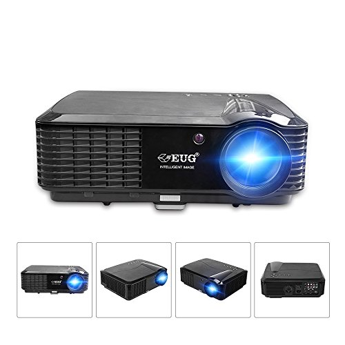 2006 Real Football - EUG LCD HD Video Projector - Wxga 3500 Lumen Support Full HD 1080P Red/Blue 3D MHL Compatible, LED Home Theater Cinema Projectors Built-in Speakers for Backyard Football Outdoor Movie Gaming Consoles