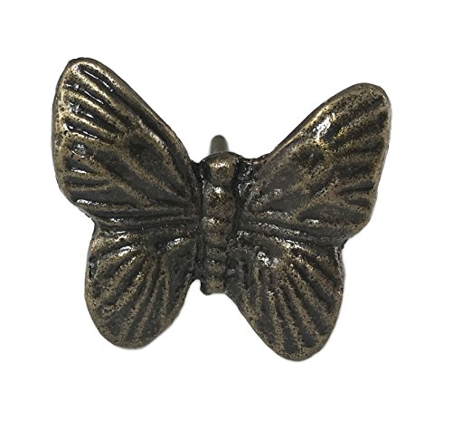 Butterfly Metal Knob Pull for Drawers, Doors, Cabinets - Pack of 12