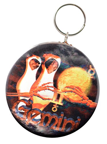 Born Gothic Gemini   5 21 To 6 21 Air Sign Keychain