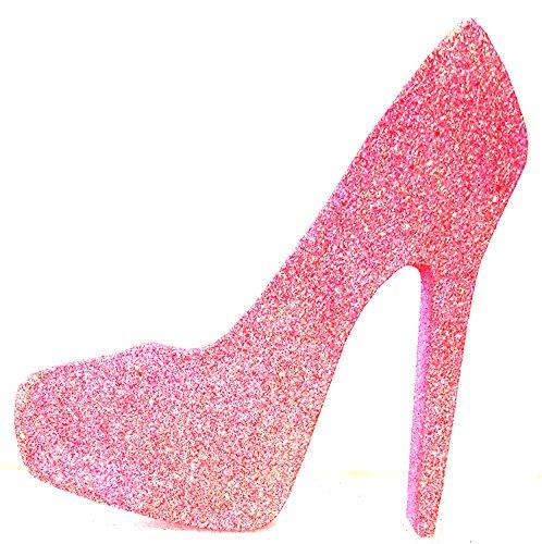 High Heel Stiletto Shoe (Rainbow Pink Glitter, 6 ()