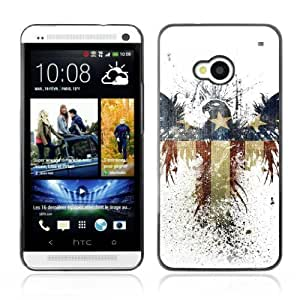 YOYOSHOP [America Eagle Flag] HTC One M7 Case Kimberly Kurzendoerfer