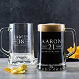 Personalized Tankard Glass - Personalized Pint Glass - Personalized Beer Gifts for 18th - Personalized Birthday Gifts for Men - Personalized 21st Birthday Gifts for Him