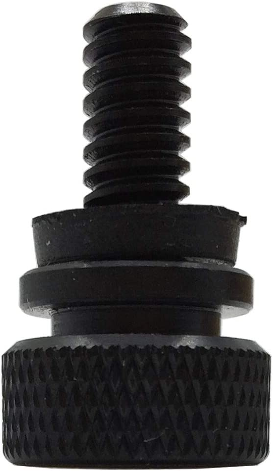 Stainless Steel Seat Bolt Rear Mount Screw Black with Seat Tab Cover for Harley Davidson 1996-2019