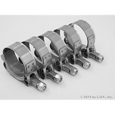 "(1.25"" - 1.75"") 1.5"" Stainless Turbo Intake 5 T-Bolt Hose Clamps 38-44 MM: Home Improvement"