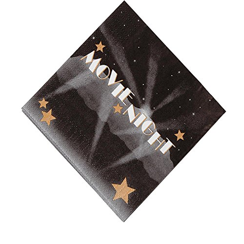 Movie Night Beverage Napkins - Bargain World Movie Night Beverage Napkins (With Sticky Notes)