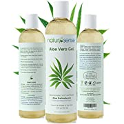 Organic Aloe Vera Gel Great for Face, Hair, Sunburn, Acne, Razor Bumps, Psoriasis, Eczema - 12 oz.