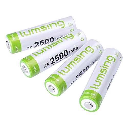 Lumsing 2500mAh AA Rechargeable Batteries
