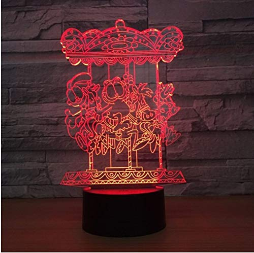 Led Table Lamps Led Lamps Beautiful Optical Illusion Lamps Table Decorations Night Light Color Changing Valentines Day 3d Switch Love Heart Durable Low Beam Yet Not Vulgar