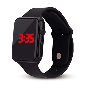Kisshes Reloj de Reloj Cuadrado de Moda, Ultra Delgado, Deportivo, Digital, LED y muñeca Relojes de Pulsera: Amazon.es: Deportes y aire libre