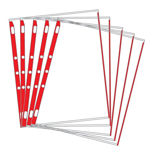 Sheet Protectors Color-Coded Edges 8.5 X 11 Pack of 100 (Red)