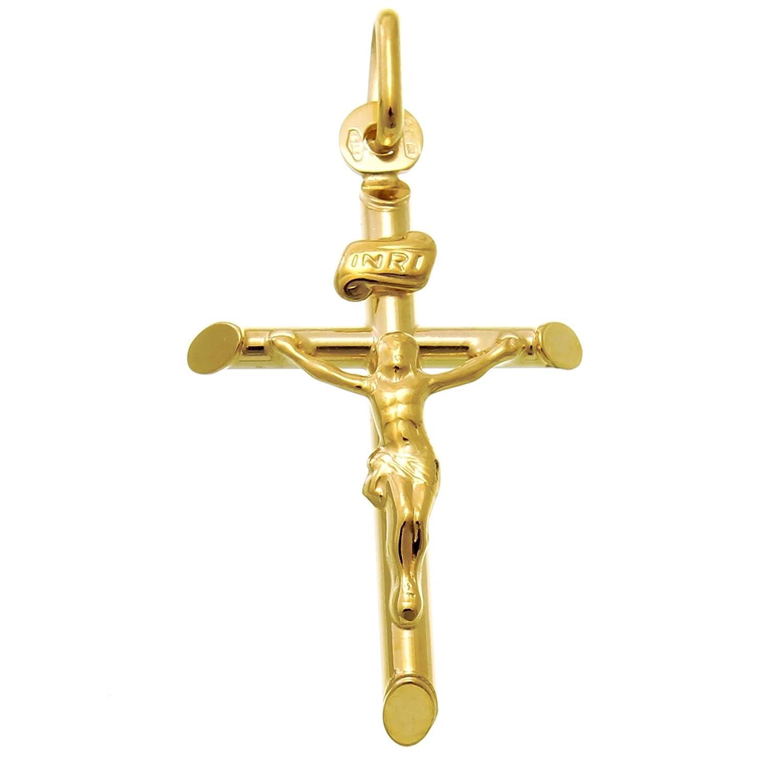 9ct Gold Crucifix Cross Pendant With Jewellery Gift Box Amazon