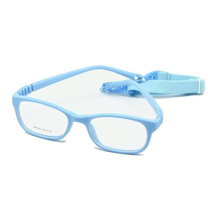0a017dc159 EnzoDate - Montura de gafas - para niño multicolor azul: Amazon.es: Ropa y  accesorios