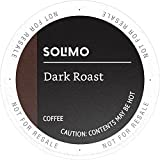 Amazon Brand - 100 Ct. Solimo Dark Roast Coffee K-Cup Pods, Compatible with 2.0 K-Cup Brewers
