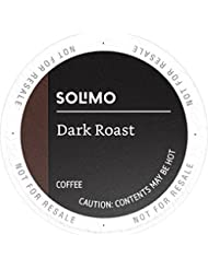 Amazon Brand - 100 Ct. Solimo Dark Roast Coffee Pods, Compatible with 2.0 K-Cup Brewers